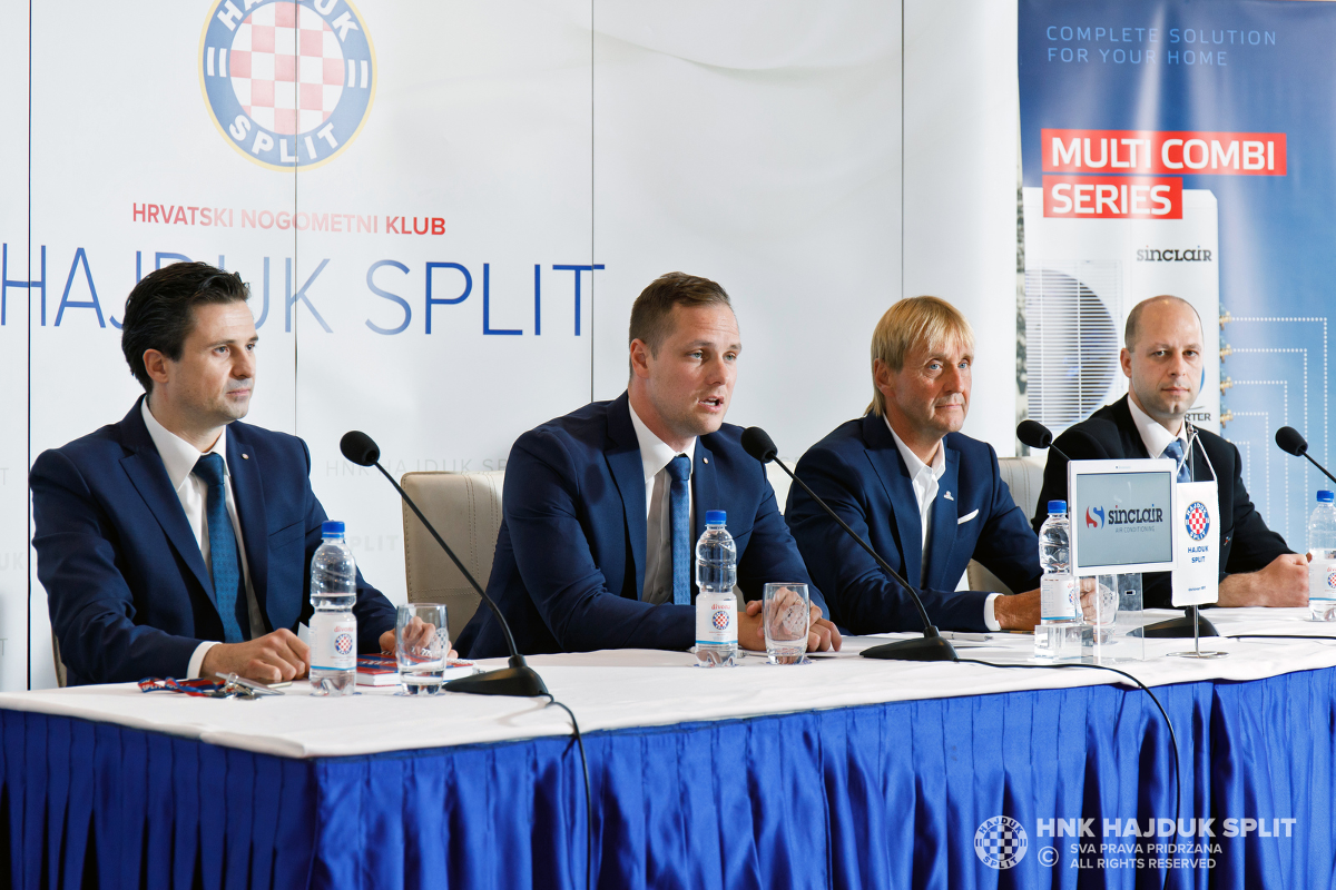 SINCLAIR sponzorem slavného chorvatského fotbalového klubu HNK Hajduk Split