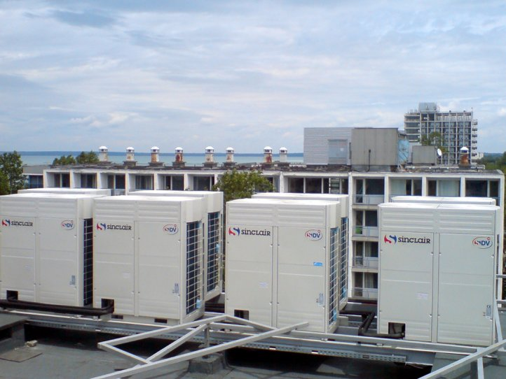 Commercial air conditioner system for hotel Balaton
